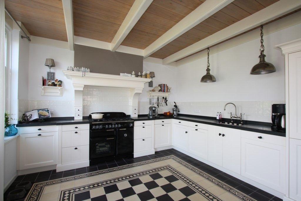 Landelijk woonkamer schouw - Fotos van keukens ...