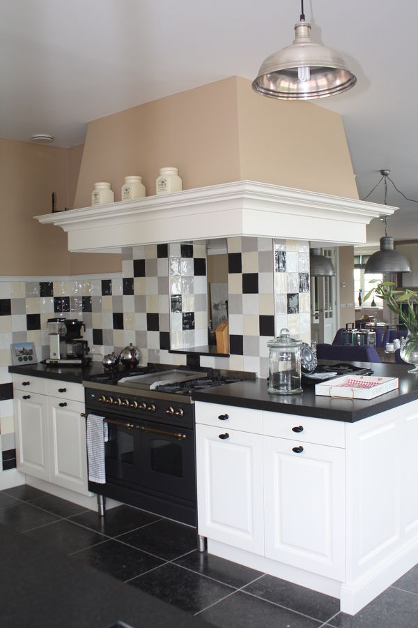 Keuken op maat gemaakt massief eiken moderne greeploze keuken op maat gemaakt landelijke - Moderne keuken stijl fotos ...